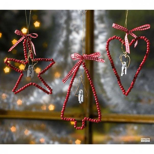 Новогодние игрушки из проволоки своими руками фото